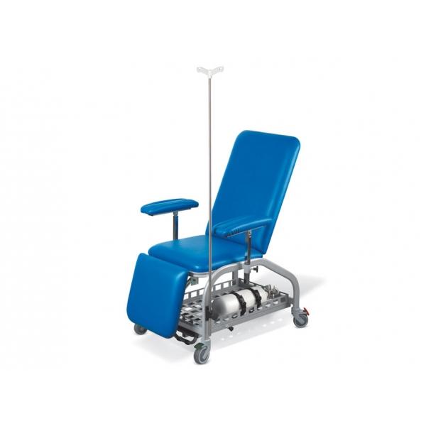 GIMA  Poltrona per donatori blu con ruote