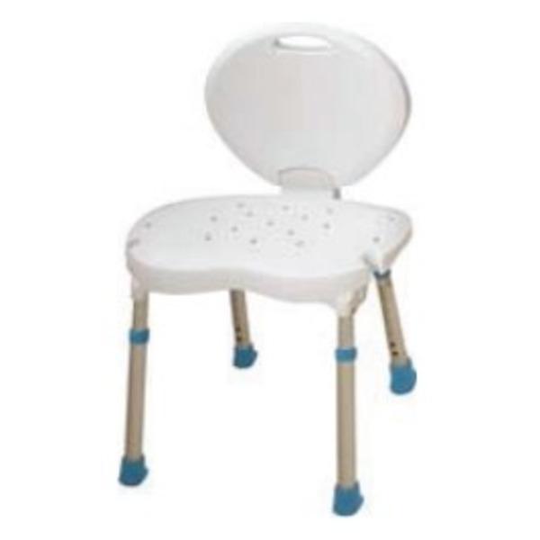 ALLMOBILITY  Sgabello con schienale alto per doccia