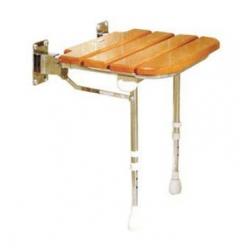 Ausili per il BagnoALLMOBILITYSedile imbottito senza schienale con doghe in legno per doccia