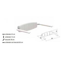 Ausili per il BagnoALLMOBILITYSchienale da muro con braccioli ribaltabili per sedute XL Extralight