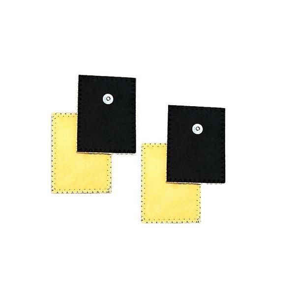 GLOBUS  4 Elettrodi in daino per ionoforesi 80 x 120 mm