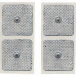 Elettrodi e ricambi elettrostimolatoriGLOBUSBlister 4 Elettrodi quadrati 50 x 50 mm a bottone