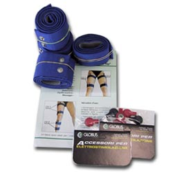 GLOBUS  Kit 8 fasce elastiche conduttive per cosce e gambe