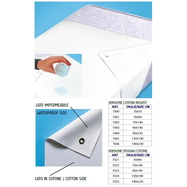 HOMECARE ORIONE  Telo salvamaterasso 70x50cm cod. 7000