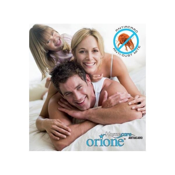 HOMECARE ORIONE  Linea antiacaro microfibra poliestere coprimaterasso matrimoniale a cod. 7032
