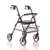Rollator pieghevole in alluminio verniciato - 4 ruote e seduta imbottita Cod. RP520