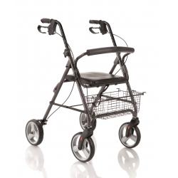 RollatorsMOPEDIARollator pieghevole in alluminio verniciato - 4 ruote e seduta imbottita Cod. RP520