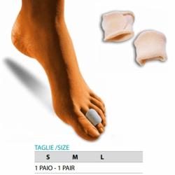 Cura del piedeOK PEDAnelli proteggi dita rivestiti in tessuto - Paio Cod.G104