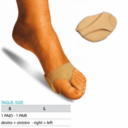 Cura del piedeOK PEDCuscinetto metatarsale in gel rivestito in tessuto elastico Cod.G118