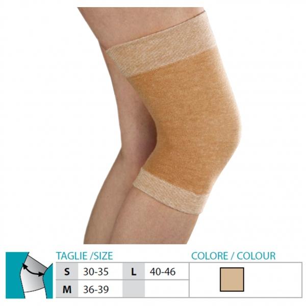 ORIONE  Ginocchiera in tessuto elastico e lana Cod.404