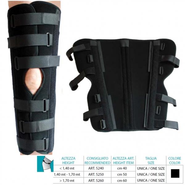 ORIONE  Immobilizzatore ginocchio 0 gradi cm 60 Cod.5260