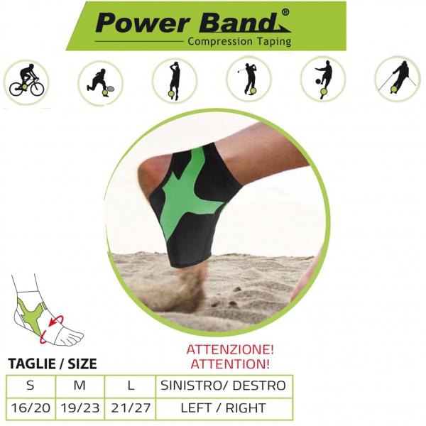 ORIONE  Cavigliera con Power band Taping integrato Ref. 489