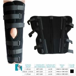 Tutori per GinocchioORIONEImmobilizzatore ginocchio 0 gradi cm 40 Cod.5240