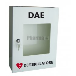 Accessori DefibrillatoriPharmapiùArmadio Metallo Con Anta Plexiglass Per Defibrillatore Aed G3-G5-Saver One