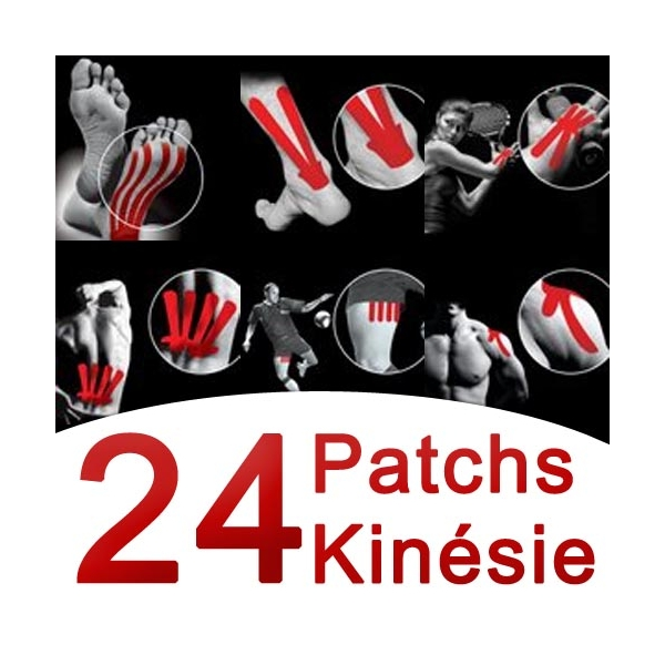 SPORT ELEC  Patchs Kinésie 24 pezzi assortiti nastri kinesiologici