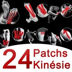 Nastri KinesiologiciSPORT ELECPatchs Kinésie 24 pezzi assortiti nastri kinesiologici