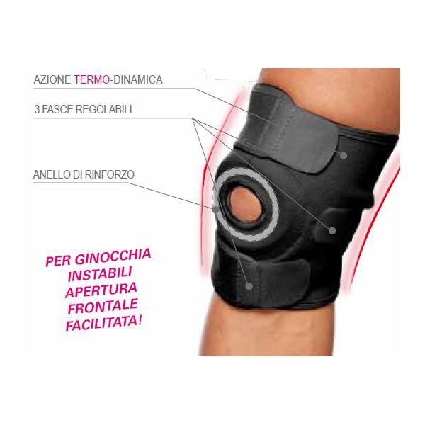 TURBOMED  Ginocchiera post-artroscopica e geriatrica con apertura totale e chiusura regolabile TM359