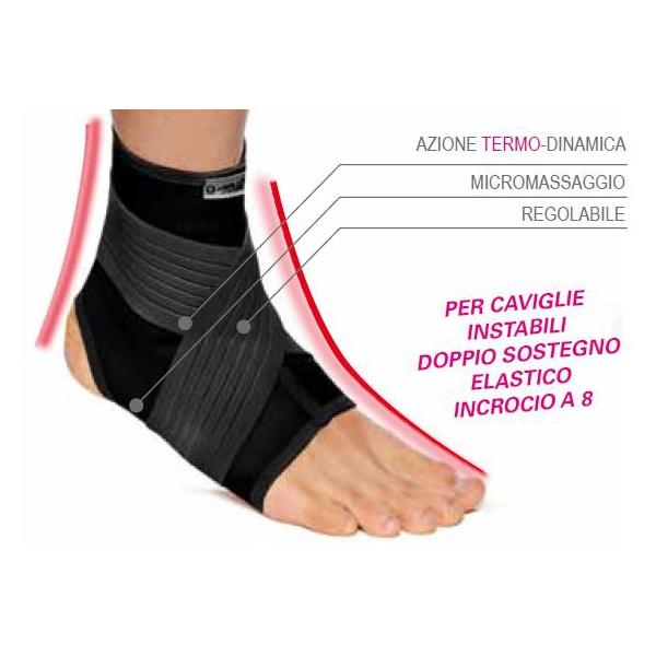 TURBOMED  Cavigliera elastica per sovraccarico alla caviglia TM363